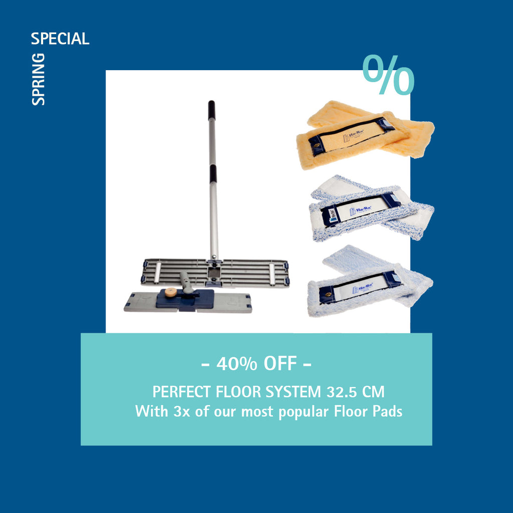 Spring Sale: 40% OFF the Ha-Ra Perfect Floor System 32.5 cm + 3 of our most popular Floor Pads