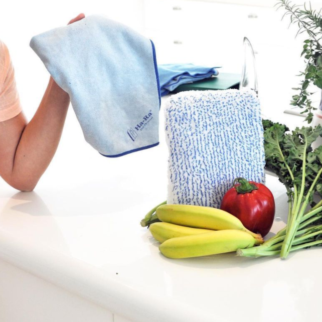 Chemical-Free Kitchen Cleaning with Ha-Ra's Fibre Technology