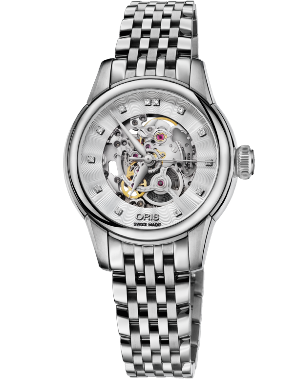 Oris Artelier Skeleton Diamonds Watch - 01-560-7687-4019-07-8-14-77 - Salera's Melbourne, Victoria and Brisbane, Queensland Australia