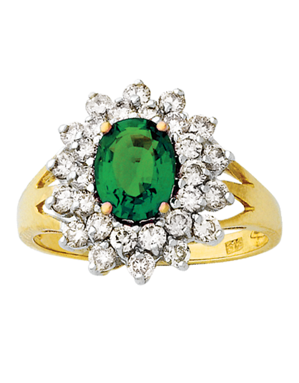 Emerald Ring - Yellow Gold Natural Emerald & Diamond Ring - 121590 - Salera's Melbourne, Victoria and Brisbane, Queensland Australia - 1