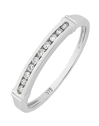 Diamond Ring - White Gold Diamond Ring - 130741