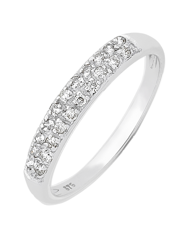 Diamond Ring - White Gold Diamond Ring - 130750
