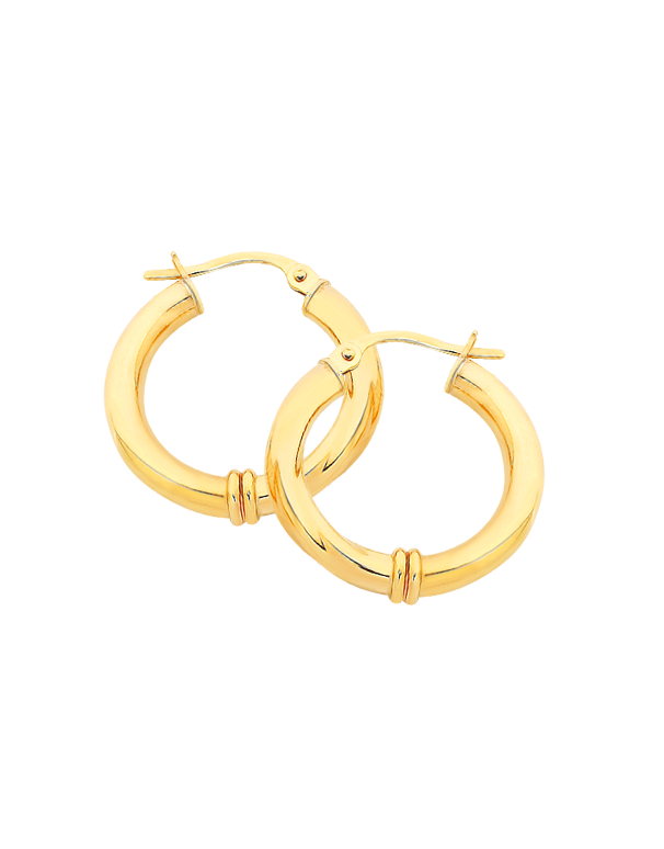 Gold Earrings - 9ct Yellow Gold Hoops - 170822 - Salera's Melbourne, Victoria and Brisbane, Queensland Australia