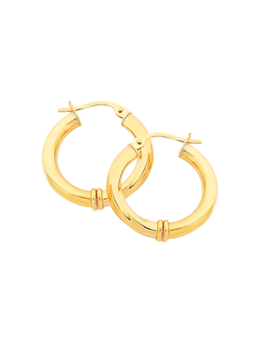 Gold Earrings - 9ct Yellow Gold Hoops - 170822