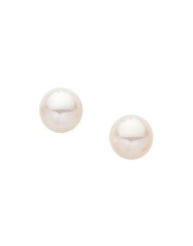 Pearl Earrings -  Freshwater Pearl Studs on Yellow Gold - 210012