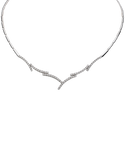 Diamond Necklet - White Gold Diamond Necklet - 230132 - Salera's Melbourne, Victoria and Brisbane, Queensland Australia - 2