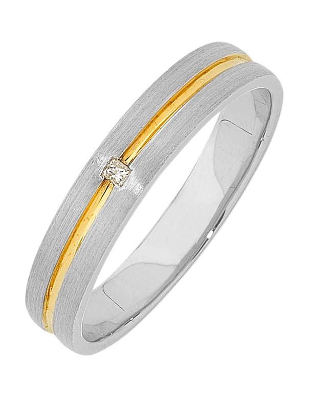 Men's Ring - Two Tone Diamond Set Ring - 640036 - Salera's Melbourne, Victoria and Brisbane, Queensland Australia