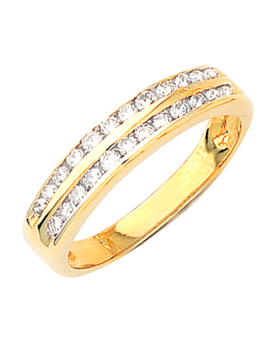 Diamond Ring - Yellow Gold Diamond Ring - 660002