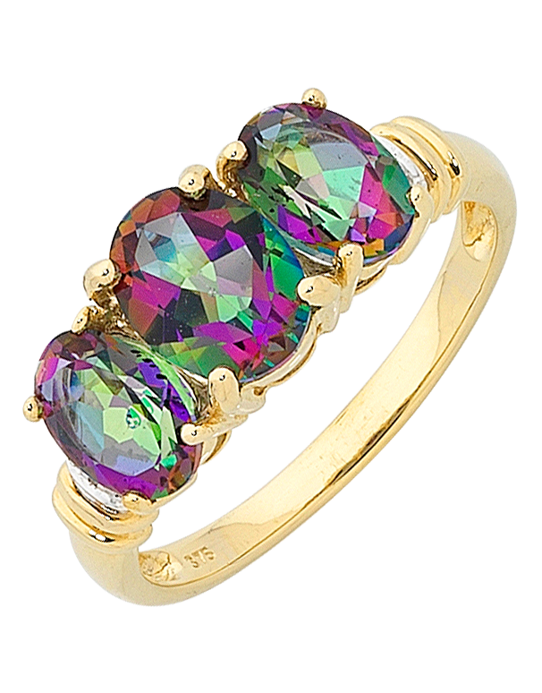 wedding dp engagement rainbow solitaire round topaz rings ring junxin cut big mystic black gold