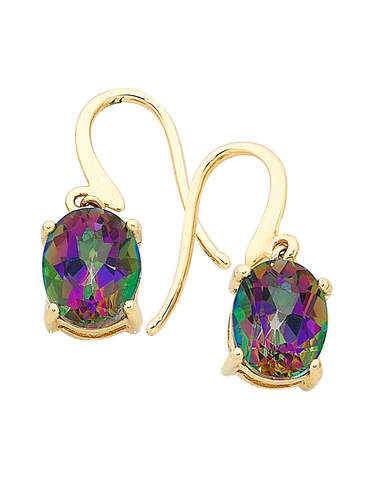 Mystic Topaz Earrings - Yellow Gold Mystic Topaz Earrings - 700846