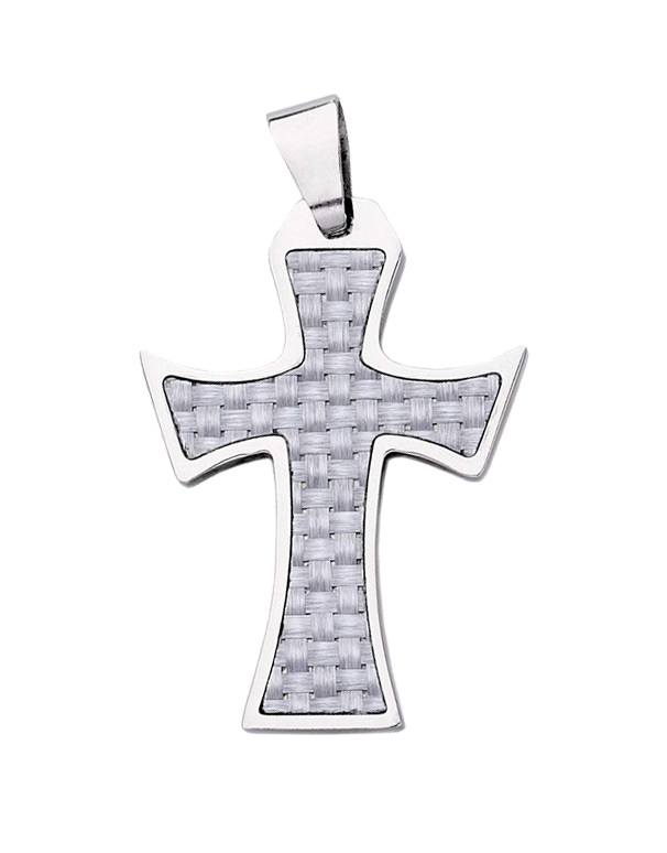 S-Steel Men's Steel Cross Pendant - 703939 - Salera's Melbourne, Victoria and Brisbane, Queensland Australia