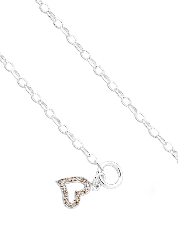 Silver Bracelet - Sterling Silver CZ Set Heart Bracelet - 705579 - Salera's Melbourne, Victoria and Brisbane, Queensland Australia