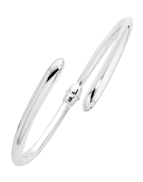 Silver Bangle - Sterling Silver Hinged Bangle - 705581 - Salera's