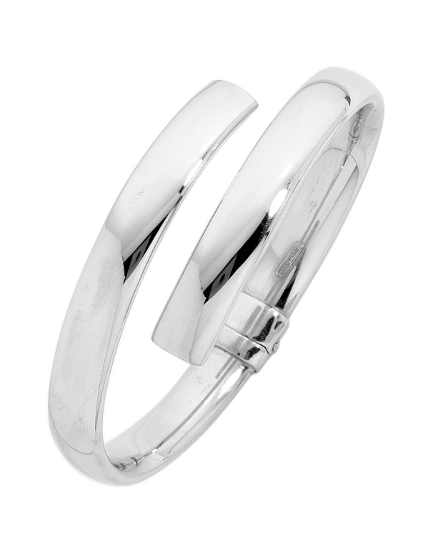 Silver Bangle - Sterling Silver Hinged Bangle - 705582 - Salera's