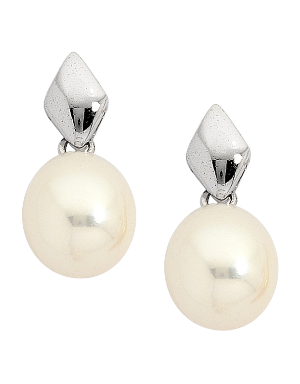Pearl Earrings -  Pearl Studs on 9ct White Gold - 705781 - Salera's Melbourne, Victoria and Brisbane, Queensland Australia