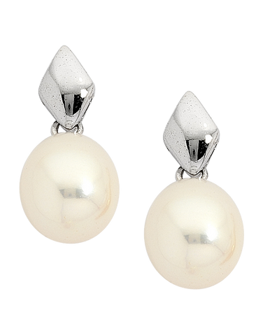 Pearl Earrings -  Pearl Studs on 9ct White Gold - 705781