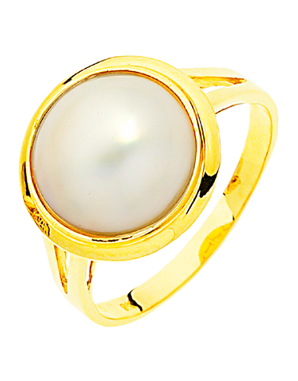 Pearl Ring - Yellow Gold Mabe Pearl Ring - 706138 - Salera's Melbourne, Victoria and Brisbane, Queensland Australia