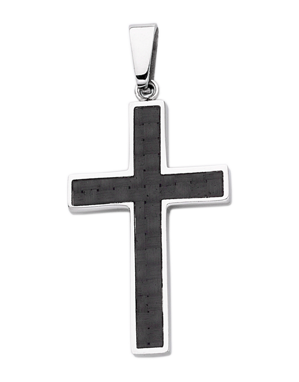 S-Steel Men's Steel Cross Pendant - 707275 - Salera's Melbourne, Victoria and Brisbane, Queensland Australia