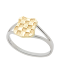 Gold Ring - 9ct Yellow Gold and Sterling Silver Croatian Ring - 709298