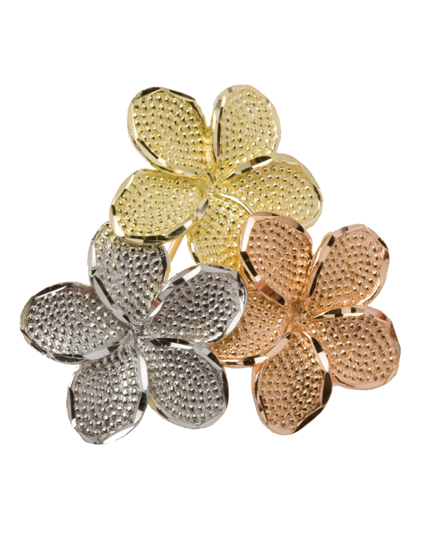 Gold Brooch - 9ct Three Tone Flower Brooch - 710098 - Salera's Melbourne, Victoria and Brisbane, Queensland Australia