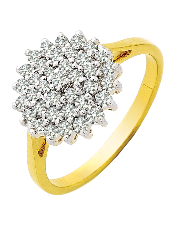 Diamond Ring - Two Tone Gold Diamond Ring - 710346 - Salera's Melbourne, Victoria and Brisbane, Queensland Australia