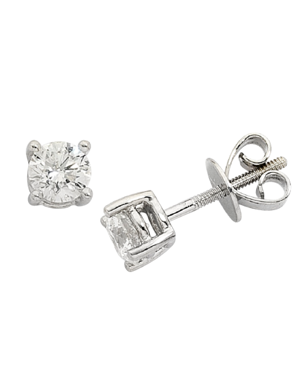 Diamond Studs - 0.60ct White Gold Diamond Studs - Salera's Melbourne, Victoria and Brisbane, Queensland Australia