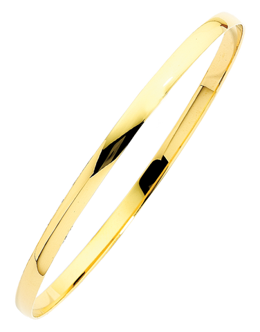 Gold Bangle - 9ct Yellow Gold Bangle - 741247