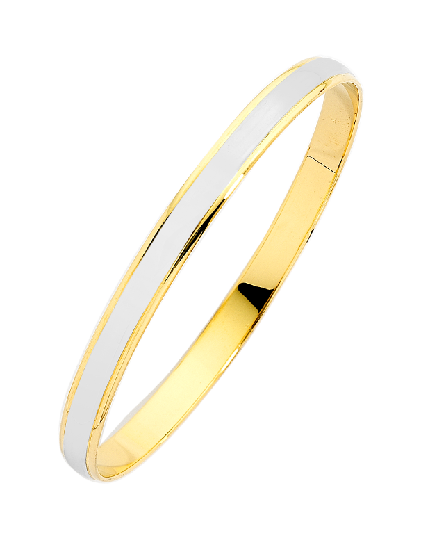 Gold Bangle - 9ct Two Tone Bangle - 741250 - Salera's Melbourne, Victoria and Brisbane, Queensland Australia