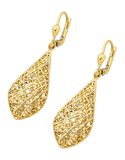 Gold Earrings - 9ct Yellow Gold Mesh Drop Earrings - 741658 - Salera's Melbourne, Victoria and Brisbane, Queensland Australia - 2