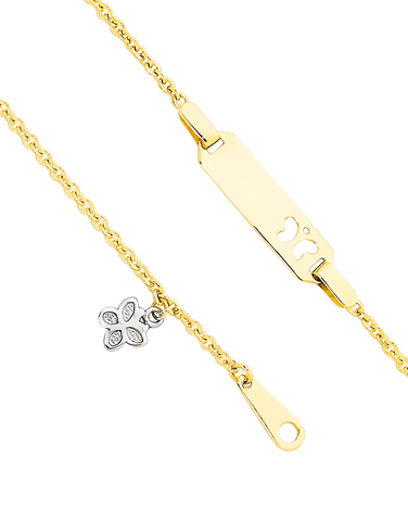 Gold Bracelet - Yellow Gold ID Charm Bracelet - 741668