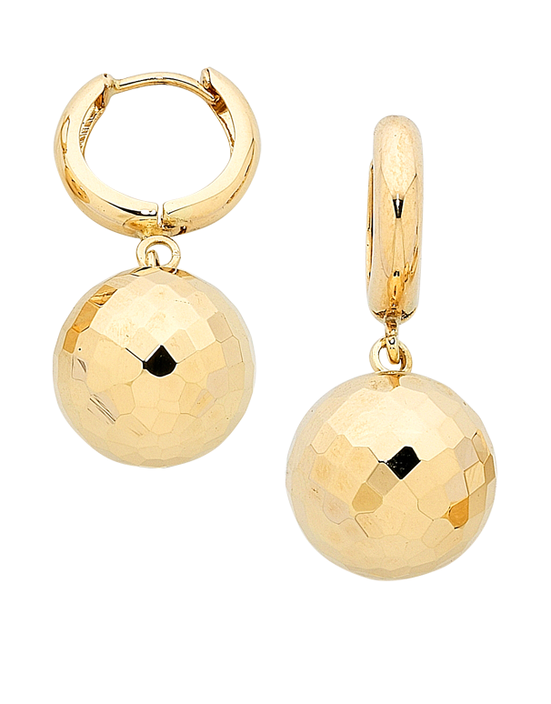 Gold Earrings - 9ct Yellow Gold Ball Drop Earrings - 741733 - Salera's Melbourne, Victoria and Brisbane, Queensland Australia