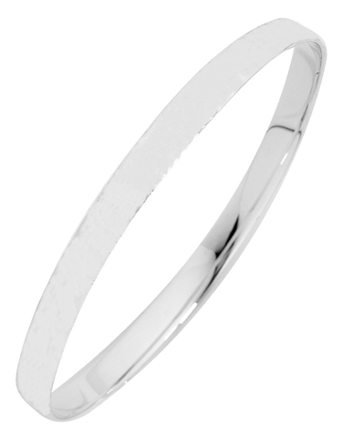 Silver Bangle - Sterling Silver 6mm Solid Bangle - 741761