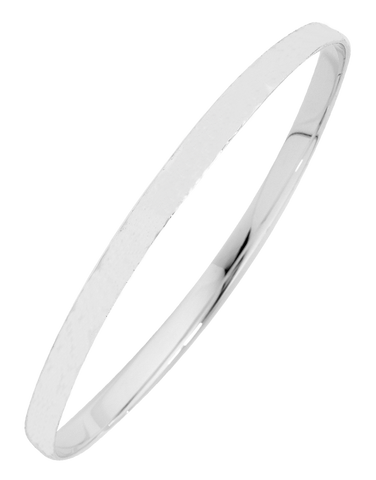 Silver Bangle - Sterling Silver 4mm Solid Bangle - 741762