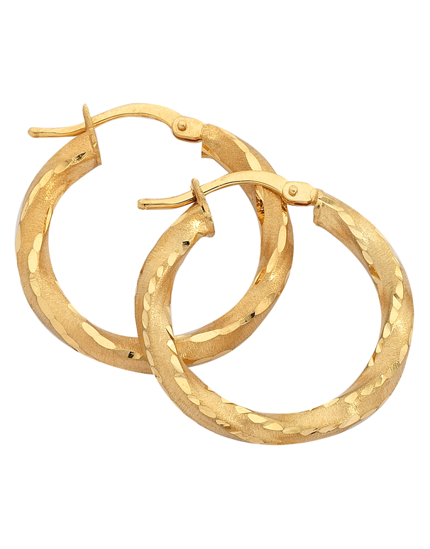 Gold Earrings - 9ct Yellow Gold Hoop Earrings - 742573 - Salera's Melbourne, Victoria and Brisbane, Queensland Australia