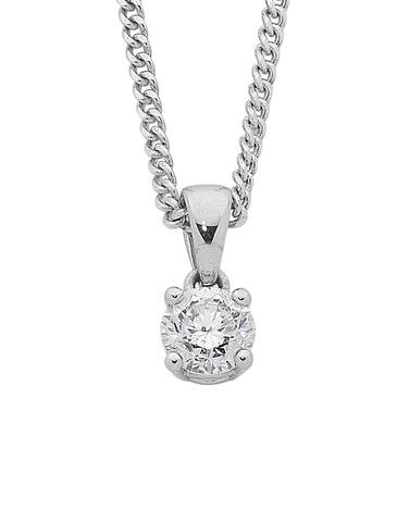 Diamond Pendant - White Gold Diamond Pendant - 743915