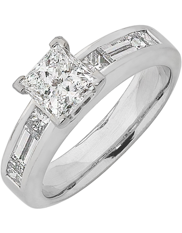 Diamond Ring - Princess Cut Diamond Engagement Ring - 744595 - Salera's Melbourne, Victoria and Brisbane, Queensland Australia