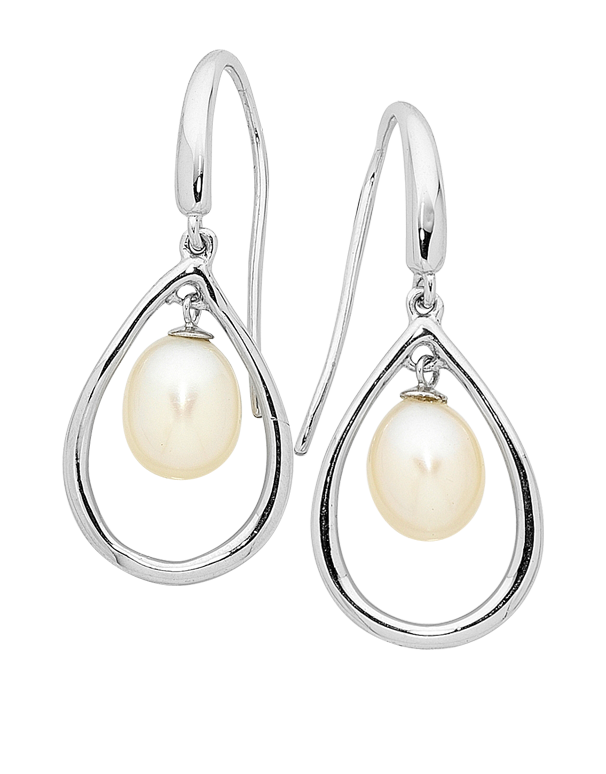 Pearl Earrings - Sterling Silver Pearl Hook Earrings - 745080 - Salera's Melbourne, Victoria and Brisbane, Queensland Australia
