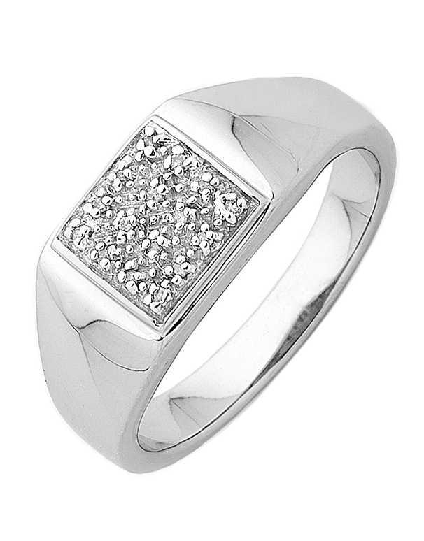Men's Ring - Sterling Silver Diamond Set Ring - 745123 - Salera's Melbourne, Victoria and Brisbane, Queensland Australia