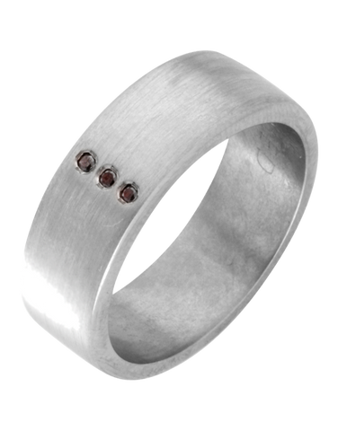 Wedding Band - Men's Titanium and Black Diamond Wedding Band - 746198