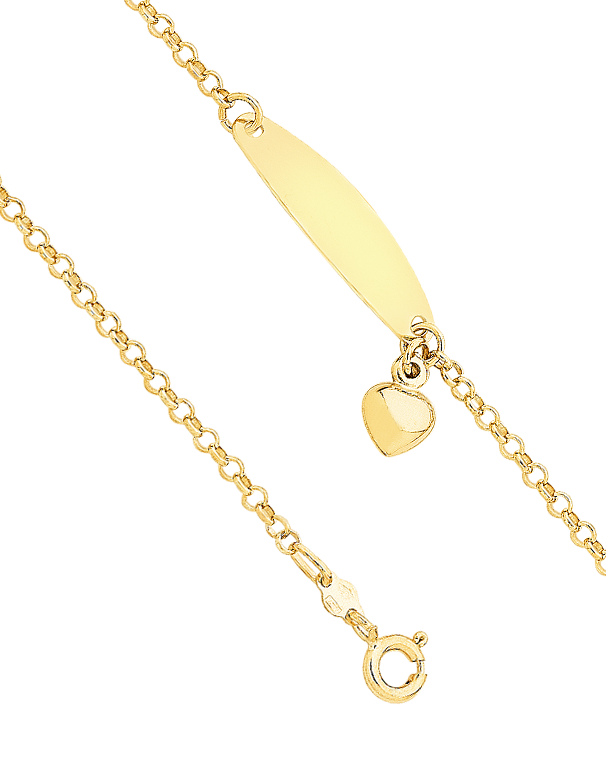 Gold Bracelet - Yellow Gold ID Charm Bracelet - 746971 - Salera's Melbourne, Victoria and Brisbane, Queensland Australia