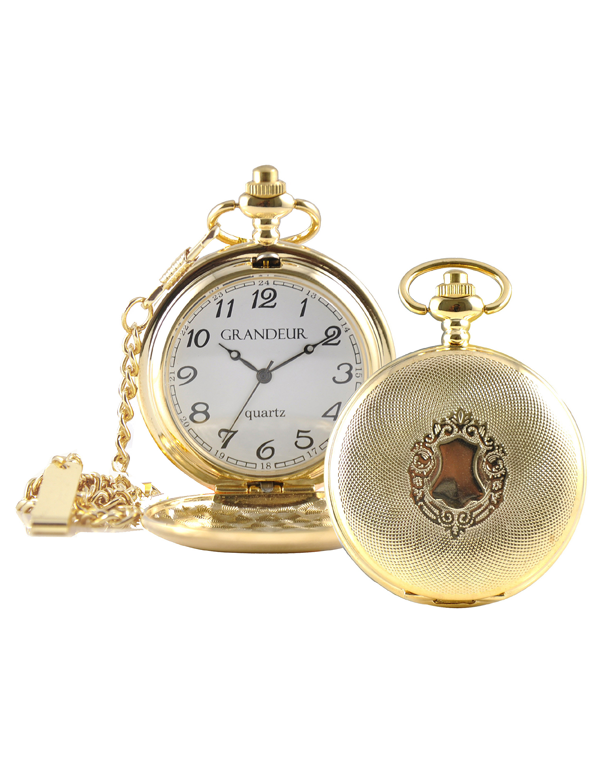 Divine - Engraved Pocket Watch - GW1045-1 - 747536 - Salera's Melbourne, Victoria and Brisbane, Queensland Australia