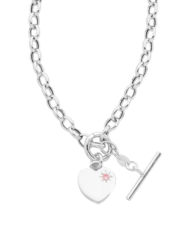 Silver Necklet - Sterling Silver Heart Charm Necklet - 747792 - Salera's Melbourne, Victoria and Brisbane, Queensland Australia