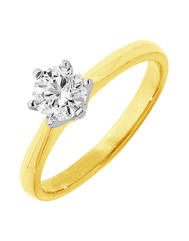 Diamond Ring - 0.50ct Round Brilliant Solitaire Engagement Ring