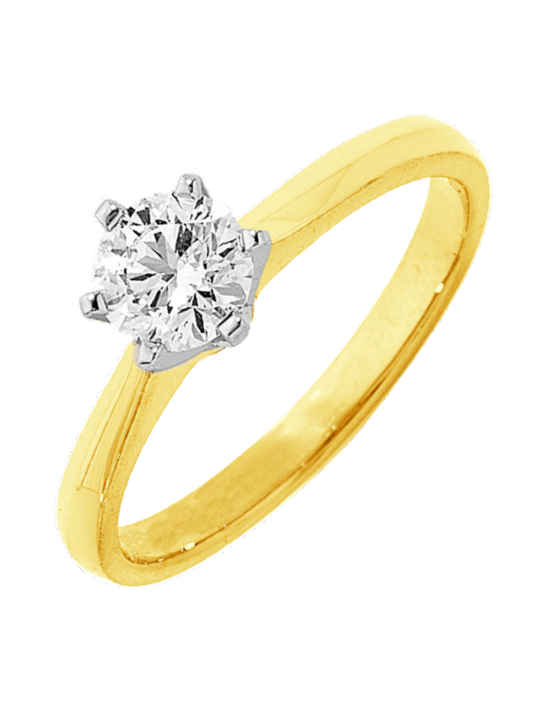 Diamond Ring - 0.50ct Round Brilliant Solitaire Engagement Ring - Salera's Melbourne, Victoria and Brisbane, Queensland Australia