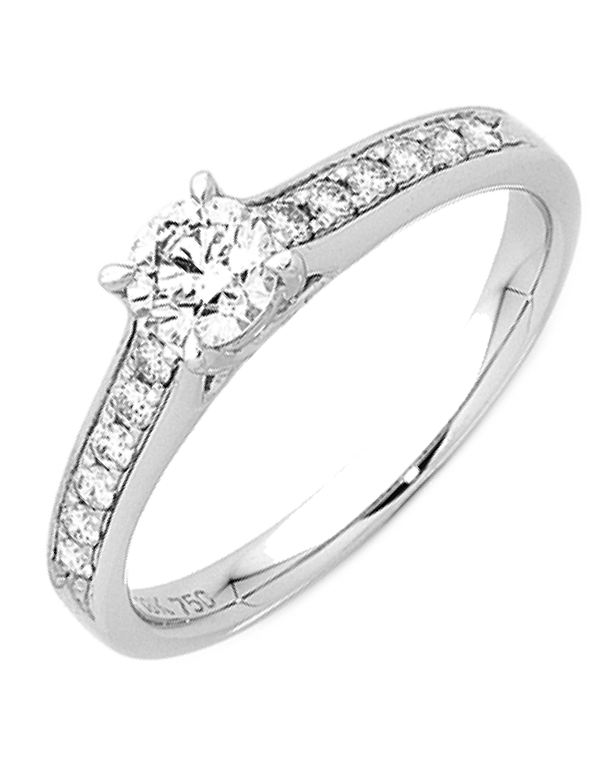 Diamond Ring - 18ct White Gold Engagement Ring - 749700 - Salera's Melbourne, Victoria and Brisbane, Queensland Australia