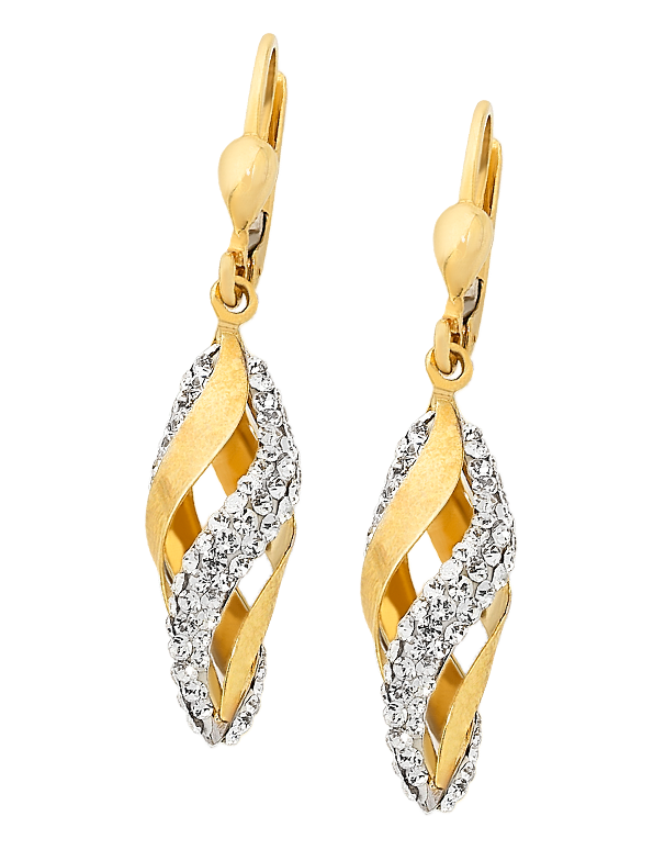 CZ Earrings - 9ct Yellow Gold Crystal Drop Earrings - 749712 - Salera's Melbourne, Victoria and Brisbane, Queensland Australia