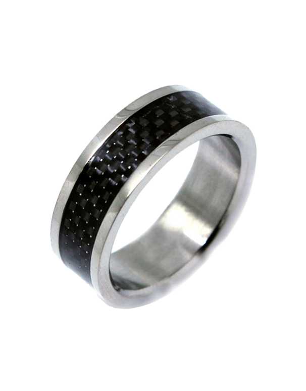 S-Steel Men's Titanium Ring - 749825 - Salera's Melbourne, Victoria and Brisbane, Queensland Australia