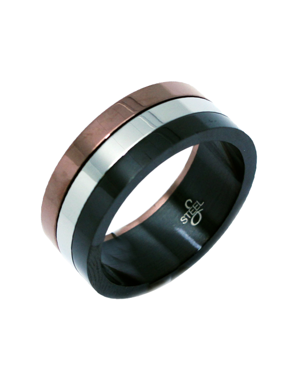 S-Steel Men's Steel Ring - 749832 - Salera's Melbourne, Victoria and Brisbane, Queensland Australia