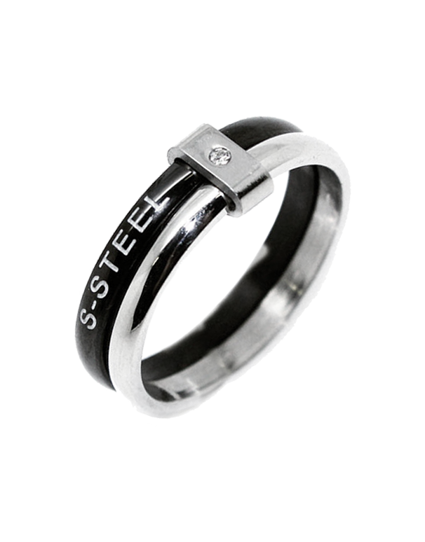 S-Steel Men's Steel Ring - 749835 - Salera's Melbourne, Victoria and Brisbane, Queensland Australia