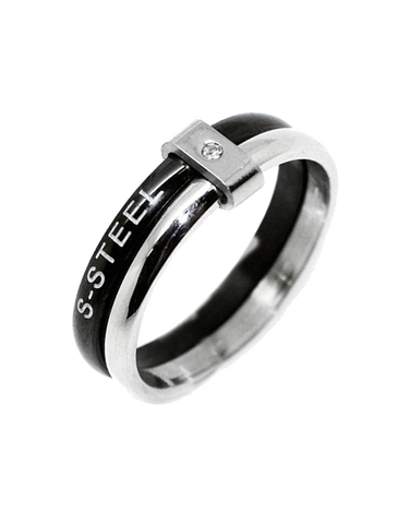 S-Steel Men's Steel Ring - 749835